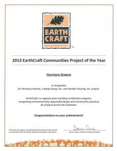 2013 EarthCraft Communities of the Year Award  Harmony Greene